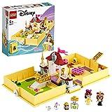 LEGO 43177 Disney Princess Les aventures de Belle dans un livre de contes, Ensemble de palais de la Belle et de la Bête, Jouet de voyage