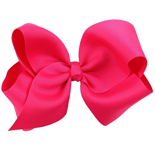 Covermason Pince à cheveux noeud pour enfants papillon (Hot Pink)