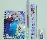 Frozen Congelado Anna & Elsa 4 piezas de papelería conjunto