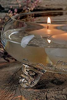 Richland Floating Candle Bowl Clear Glass Footed 9.5