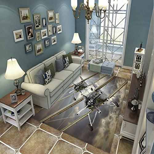 Tappeti Moderno Tappeto soffice al tatto Indoor Decorazione a casa per soggiorno corridoio e camera da letto tappeto drone 60x90cm(LxW)
