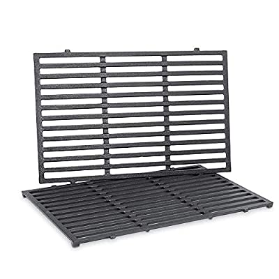 Uniflasy 7524 19.5 Inches Cast Iron Cooking Grid Grates for Weber Genesis E-310/ E-320/ E-330, Genesis S-310/ S-320/ S-330, Genesis EP-310/ EP-320/ EP-330 Gas Grill, Replaces for Weber 7524/7528