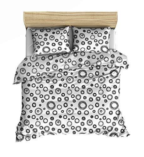 Lemur Elipso Bed Linen Set 135 x 200 cm 4-Piece Renforcé 100% Cotton Oeko-Tex Standard 100 Duvet Cover 135 x 200 cm Pillowcase 80 x 80 cm