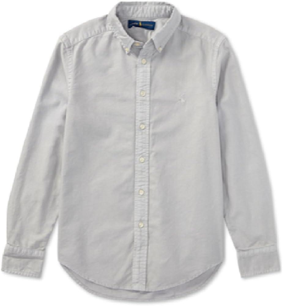 Ralph Lauren Lightweight Cotton Poplin Shirt, Boys, Royal Multi,