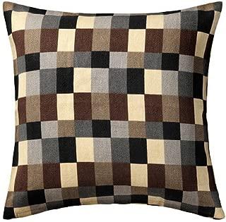 Ikea Cushion cover, check, beige 20x20