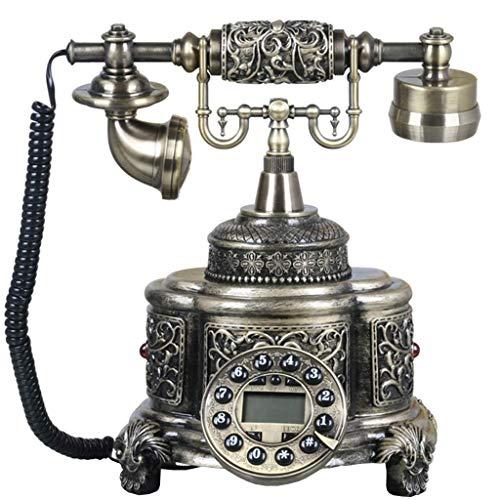 SGSG Teléfono Retro, teléfono Retro, teléfono Antiguo, teléfono Antiguo, Resina + dial de botón de Metal + Campana de Metal, decoración para el hogar y la Oficina
