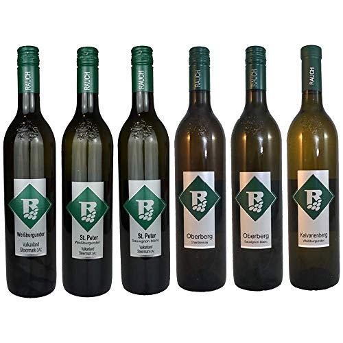Verkostungspaket kräftig Ortswein, Riedenwein, DAC Vulkanland Steiermark 6 verschiedene Flaschen Weinhof Rauch