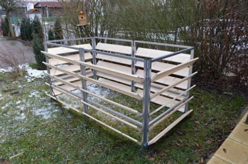 Unbekannt 14874 Elmato Komposter Holz Metall, 200cm, 6-teilig Fichte