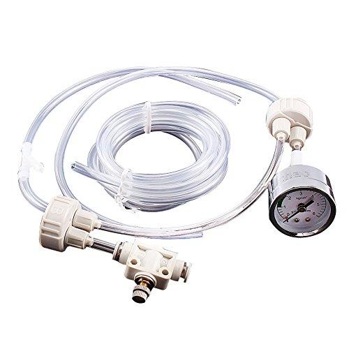DIY Co2 Diffusor, CO2 Generator mit Druckprüfer und Luftstromkontrollventil für Pflanzen und Aquarium (CO2-Generator)