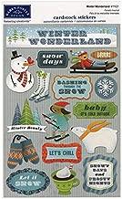 KAREN FOSTER Design Acid and Lignin Free Scrapbooking Sticker Sheet, Winter Wonderland