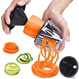 2 in 1 Spiraliser Vegetable Slicer – Samshow zucchini spiraler - Complete Vegetable Spiralizer, Spiral Slicer Bundle with Cleaning Brush
