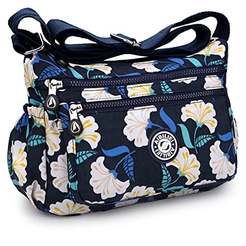 AIBILIEI Damenmode Umhängetasche Umhängetasche Handtasche Reisen Einkaufen täglichen Gebrauch (2-Ginkgo geht)