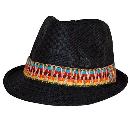 Chapeau-tendance - Trilby Homme azteque Noir - - Mixte