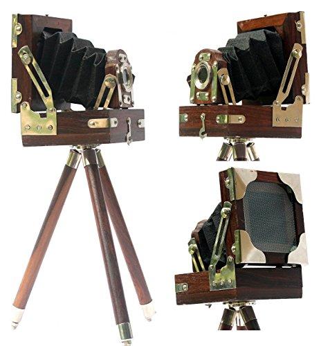 Collectibles kopen Vintage Look Film Camera Houten Statief Collectible Studio Gift 4X4X5