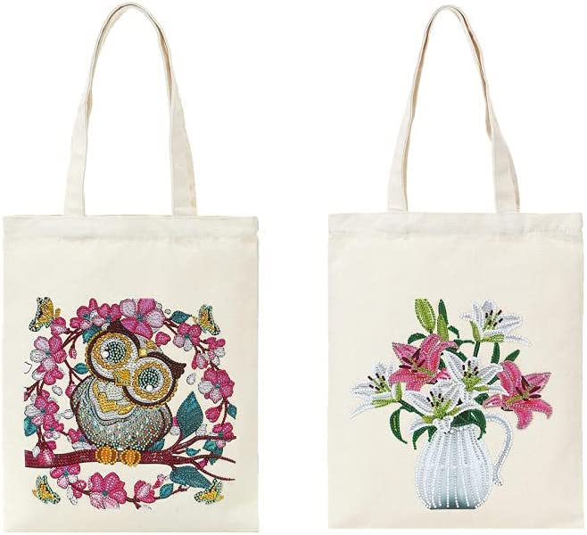 Directly managed store Minneapolis Mall 2PCS Canvas Tote Bag Kit Embroidery with Include