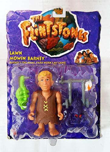 Flinstones Lawn Mowin' Barney Action Figure