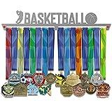 VICTORY HANGERS Soportes Para Medallas BASKETBALL Gancho Exhibidor de Medallas V2| Medallero | Elegante Expositor Para Medallas * 100% Acero Inoxidable | Percha Para Medallas | Para Los Campeones !