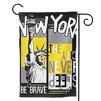 ニューヨーク のぼり旗 ガーデンフラッグ 両面 防風 サイン 休日を祝う 美しい 庭の装飾 アンティークの冬 ガーデンバナー ファッション 屋外装飾 贈り物