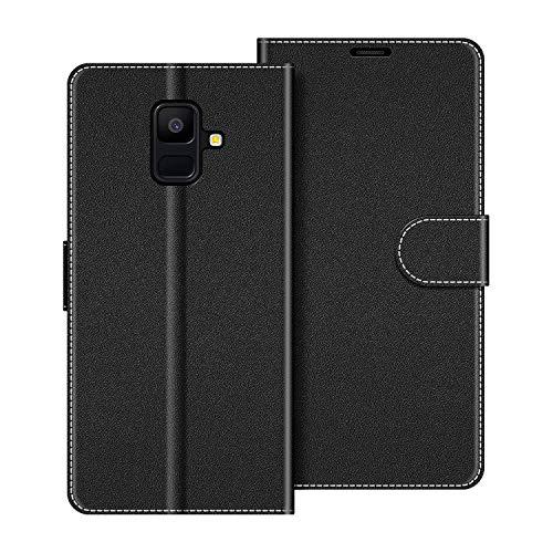 COODIO Funda Samsung Galaxy A6 2018 con Tapa, Funda Movil Samsung A6 2018, Funda Libro Galaxy A6 2018 Carcasa Magnético Funda para Samsung Galaxy A6 2018, Negro