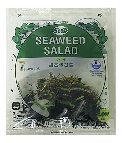 SEA.D Korean Instant Dried Seaweed Salad Kit 7 Kinds of Seaweed (Pack of 6)