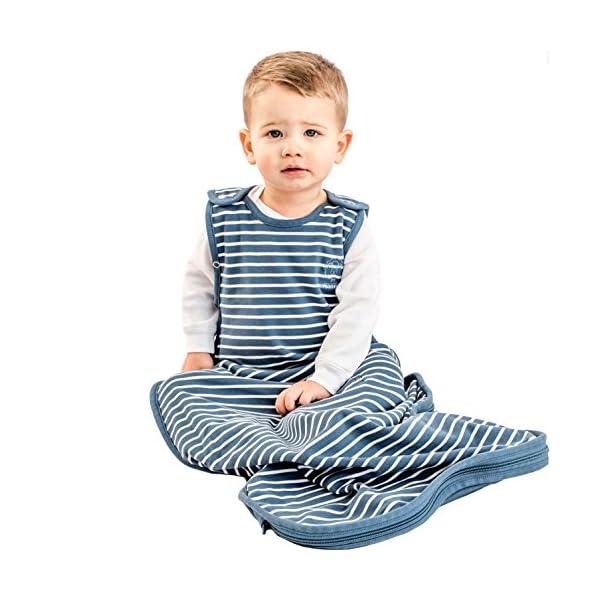 Woolino 4 Season Baby Sleep Bag - Merino Wool Baby Sleeping Bag, 2-24 Months, Navy Blue