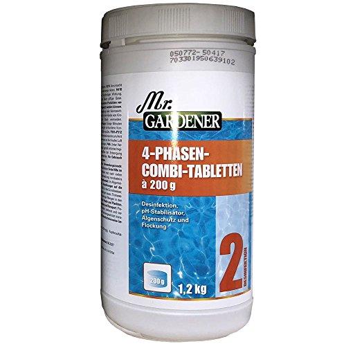 4 Phasen Combi-Tabletten 1,2 Kg zur Wasserpflege