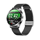 YLB Smart Watch and Sleep Monitoring 1 28 Pulgadas TFT Pantalla táctil Completa Pulsera Larga Batería Vida IP68 Impermeable Modo Multi Deporte Modo Especial Función Azul (Color : C)