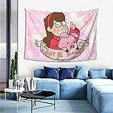 shibeili Waddles Mabel Pines Just Be Yourself Anime Tapestry Tapiz, decoración del hogar, Sala de Estar, Dormitorio, Dormitorio, decoración, 60x40 Pulgadas
