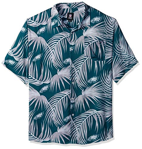 Philadelphia Eagles NFL Mens Hawaiian Button Up Shirt - L