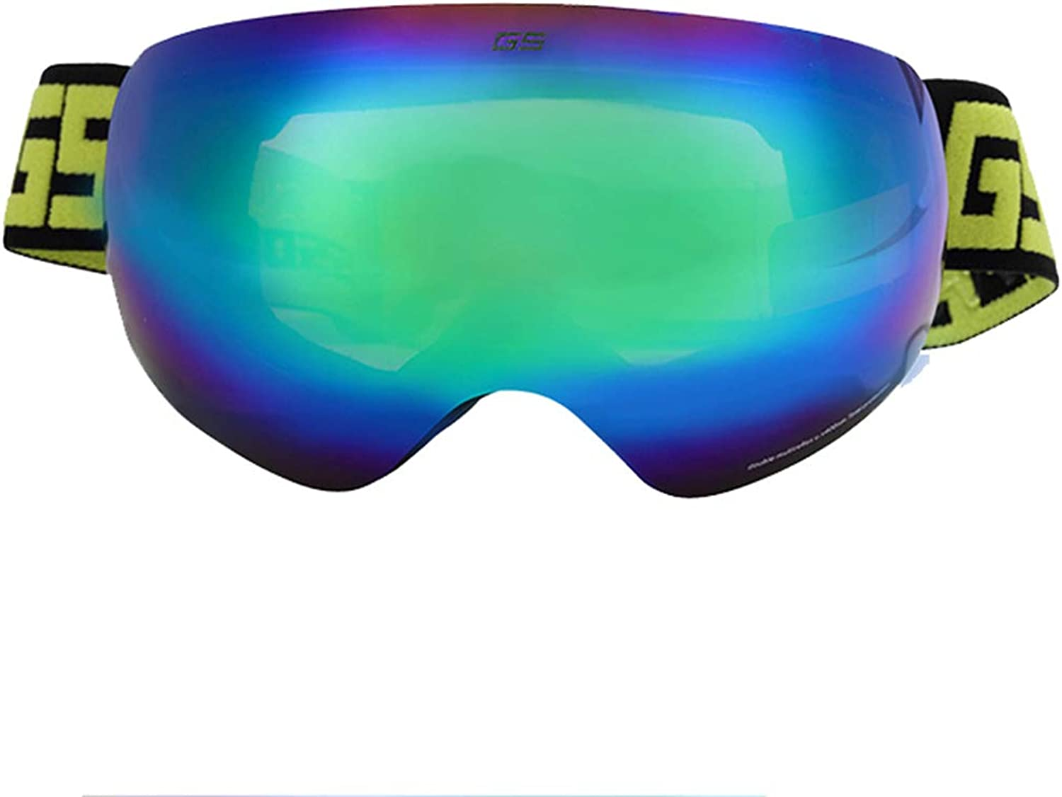 Yxx max Ski Goggles Men And Women Double-layer Anti-fog And Windproof Large Spherical Single And Double Plate Goggles Winter