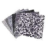 SUPVOX 7Pz di Tessuto Artigianale in Cotone a Quadretti Patchwork Lanugine Motivo Floreale per Cucito Fai da Te Trapuntatura Scrapbooking