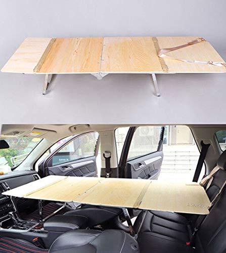 Travel Car Bed Houten bed Draagbaar Opvouwbaar, Auto Slaap Rest Bed,Outdoor camping Zakelijke reis, Het menselijk lichaam kan volledig worden rechtgetrokken, Met spons mat