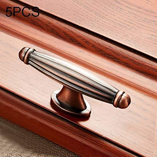 Hmg 5 PCS 6064 Massivholz-Möbel Schrank Griff Red Bronze Griffe