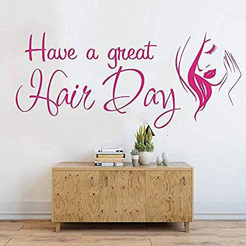 Adesivo murale Avere una grande giornata di parrucchiere Parrucchiere Negozio Adesivo acconciatura Barbiere Governare Moda Taglio di capelli Vinile Decor Art 85X36Cm