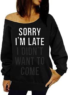 Women Off Shoulder Sweatshirt Slouchy Shirt Long Sleeve Pullover Tops