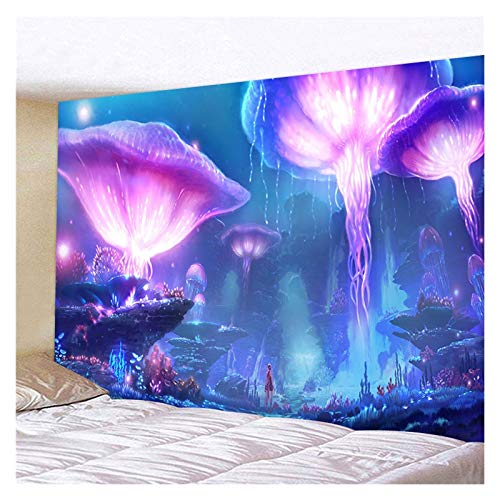 JHWSX Tapestry, Psychedelic Forest Tapestry Wall Hanging, Magic Space Starry World Fantasy Hippie Tapestry for Bedroom Living Room Dorm (Color : 8, Size : 200×150cm)