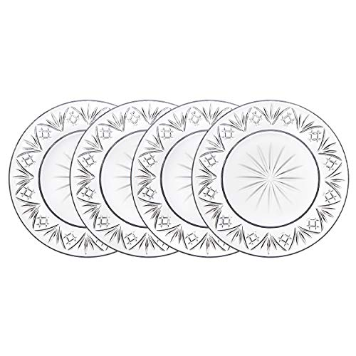 Godinger Appetizer Plates Dinnerware Set, 6inch - Dublin Collection, Set of 4
