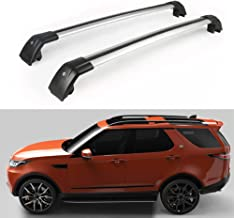 Lequer Cross Bars Crossbars Fits for Land Rover Discovery 5 L462 2017 2018 2019 Baggage Carrier Luggage Roof Rack Rail Lockable Adjustable Silver