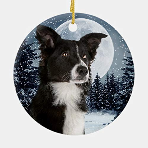 3 Inch Christmas Ornament, Border Collie Christmas Ornament, Xmas Ornament Keepsake Gift