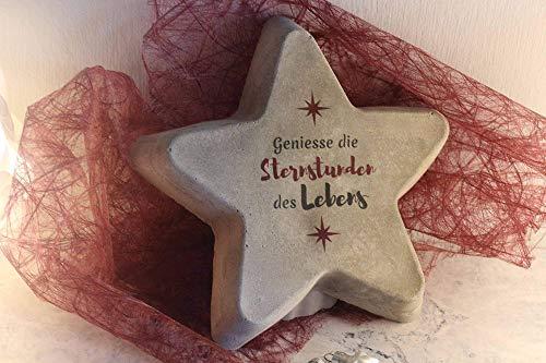 Beton Stern | Sternstunden | Geschenk | Deko | Weihnachten