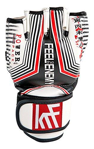 KRF Feel The Enemy Super Eva DBLE Strap 7oz Box-Handschuhe, Unisex Erwachsene L Schwarz