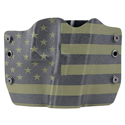 Green & Black USA Kydex OWB Holsters More Than 200 Different Handguns. Left...