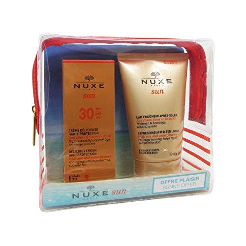 Nuxe Sun Crème Délicieuse Visage Haute Protection SPF 30 50 ml + Lait Fraîcheur Après-Soleil Visage et Corps 100 ml