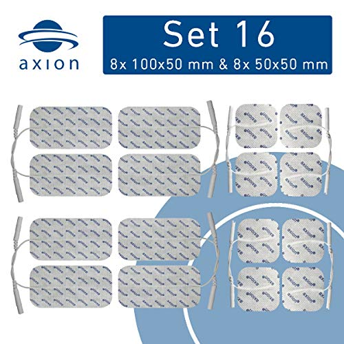 16 elettrodi pad, 8 da 10x5cm + 8 da 5x5cm. Autoadesivi, per...