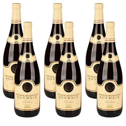 6 Flaschen Nordmazedonien Rotwein, lieblich, 2019 (6x 1,0 l)