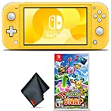 Nintendo Switch Lite (Yellow) Gaming Console Bundle with Pokemon Snap Game and Cleaning Cloth