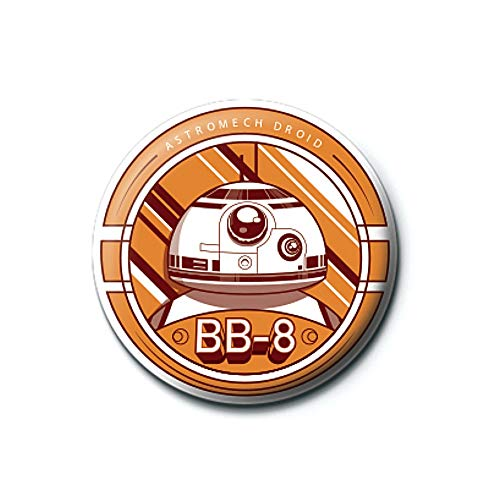 Pritties Accessories Echte Star Wars Episode VII BB-8 Droid Button Abzeichen Pin Abzeichen Retro BB8 Lucasfilm