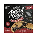 Chocolate Chip - Brownie Stuffed Cookie Dough, 9-Count Boxes (Pack of 4)