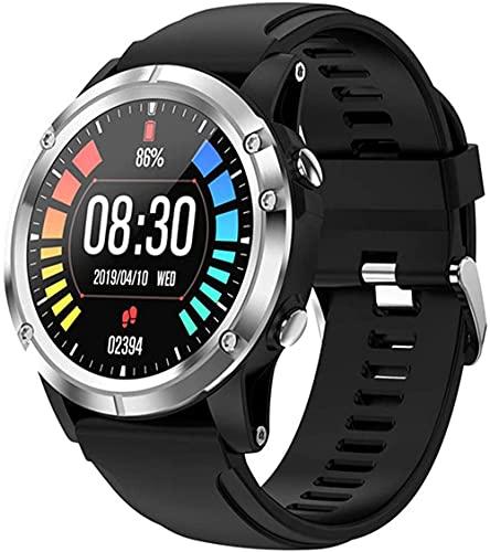 Reloj inteligente para mujeres y hombres ritmo cardíaco sangre oxígeno medición fitness Health Tracker reloj deportivo Blacksilver