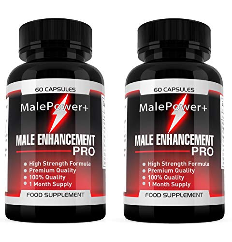 Male Power Plus - 120 Capsules Vitamin B6, L-Arginine, Ginseng Extract Korean, Vegetarina Friendly, Male Power SUPPLEMENT PARADISE